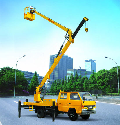 Folding Jib Aerial Working Vehicle