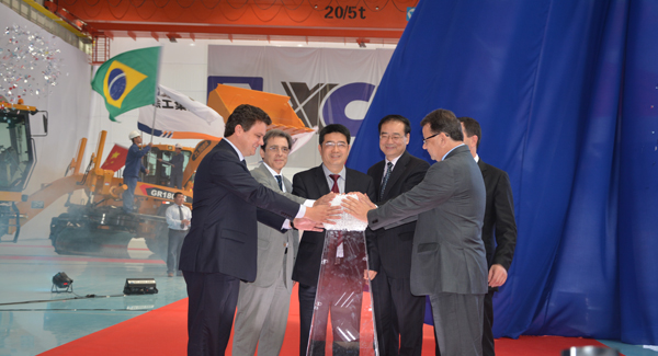 XCMG's first overseas wholly-owned production base - The Brazilian manufacturing base was completed and put into operation.