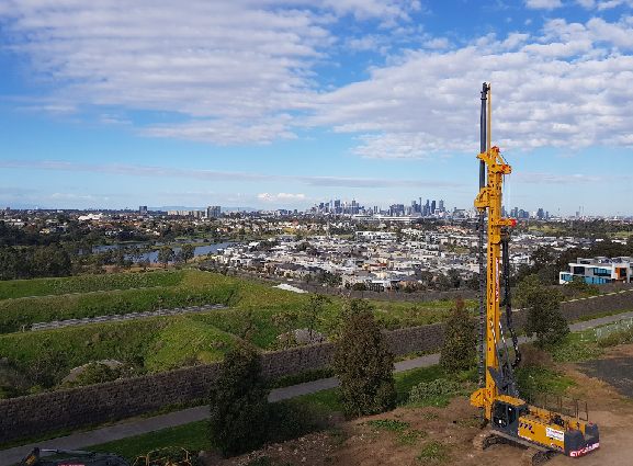 XCMG Rotary drilling rig favored by australian customers for the infrastructure construction