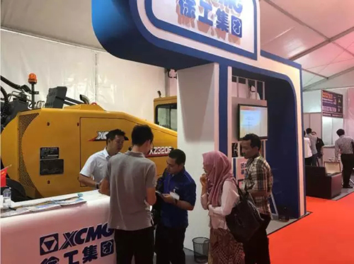 XCMG XZ320E Horizontal Directional Drills Shine at Trenchless Indonesia 2017