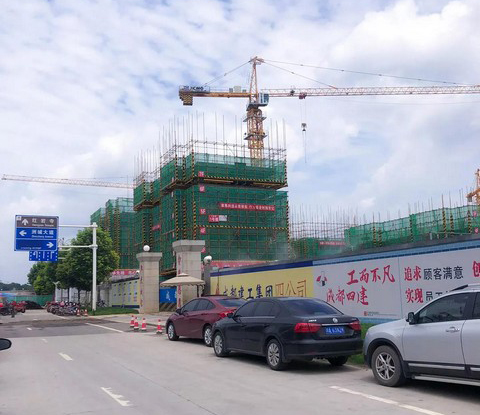 XCMG Tower Crane Helps Boost Building along Yangtze River Economic Belt