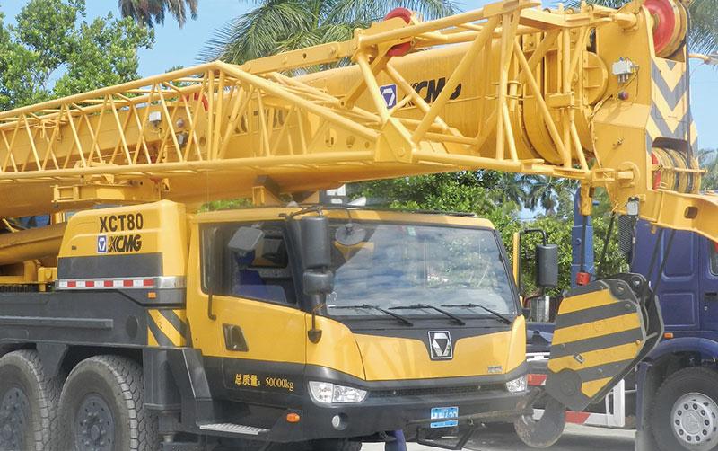 起重机XCT80餐饮业古巴军方营地建设