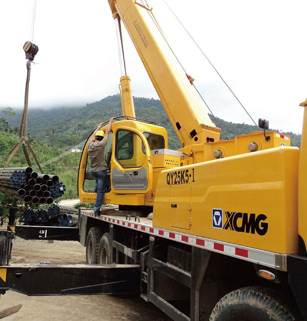 起重机助力厄瓜多尔美纳斯水电站