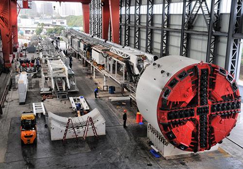 φ6.45米複合式土壓平衡盾構機