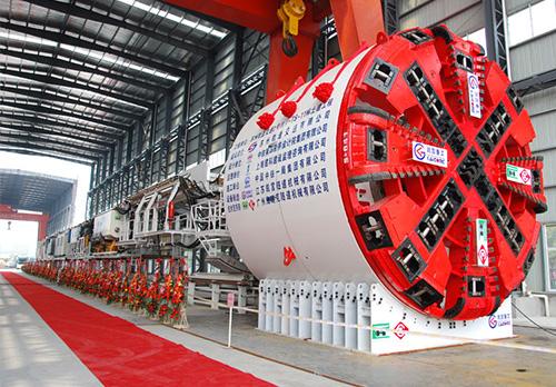 φ6.39米複合式土壓平衡盾構機