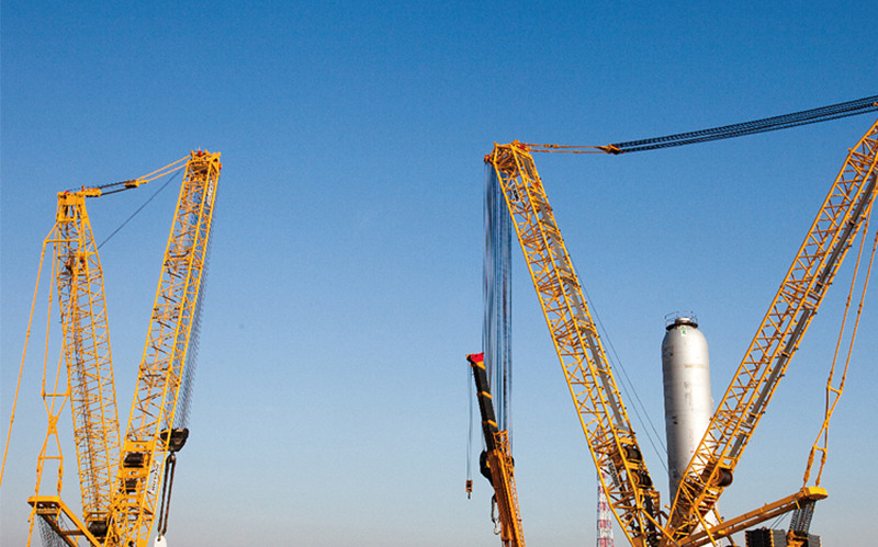 履带吊助力青岛黄岛中石化工程