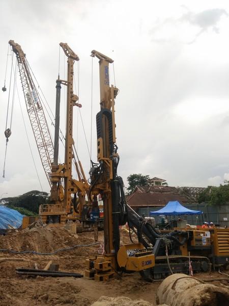 """888大奖系列地连墙设备""""比肩""""马来西亚双子塔"""