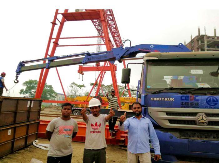 beplay电脑版随车起重机助力孟加拉BRT项目